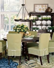 Pottery Barn Dining Room Chair Covers Green