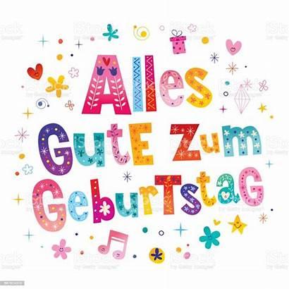 Geburtstag Gute Alles Zum Birthday German Happy