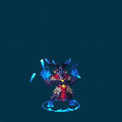 Pixel Neutral Duelyst Conjurer Redd Artwork