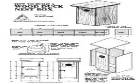 wood duck nesting boxes wood duck house plans  houses plans  mexzhousecom