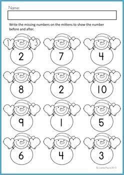 no preschool before kindergarten winter math worksheets amp activities no prep math 261