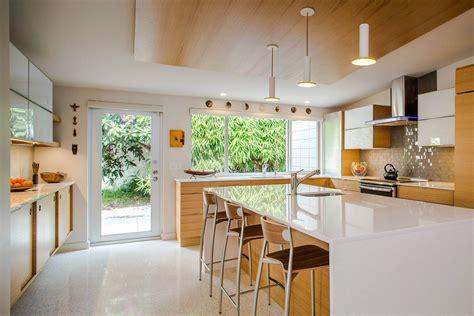 tastefully decorated modern home  mid century