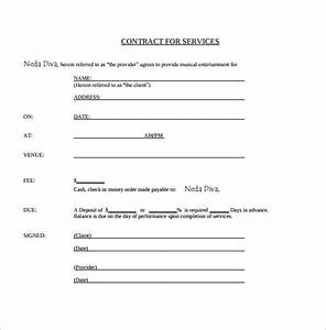 15 music contract templates sample templates With music performance contract template