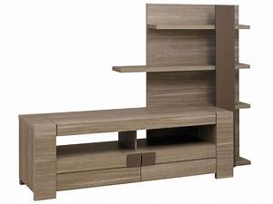 meuble tv 182 cm atlanta coloris chene fusain vente de With meuble de salle a manger avec meuble jardin conforama