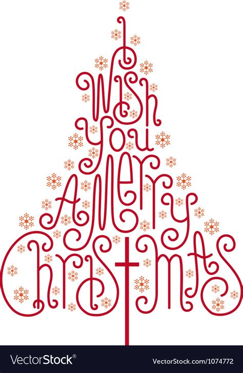 i wish you a merry christmas card royalty free vector image