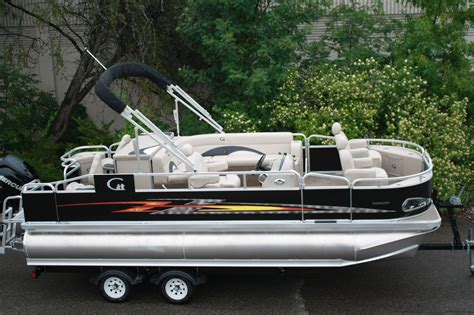 Tri Pontoon Fishing Boats by High Quality New 20 Ft Tritoon Pontoon Boat Fish And