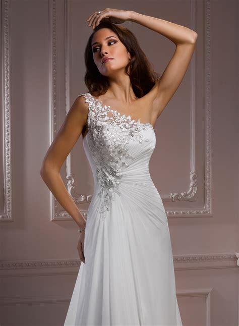 chiffon wedding gown chiffon one shoulder wedding dress dress journal