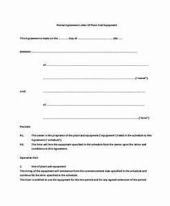 Rental agreement letter 7 word pdf documents download for Free rent agreement letter