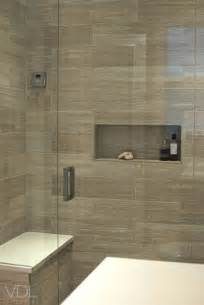 Wood Grain Tile Bathroom Shower