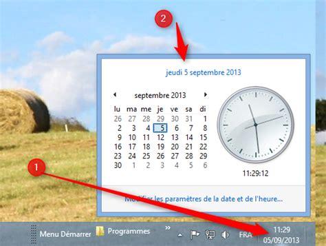 horloge sur bureau windows afficher l horloge sur le bureau 28 images installez