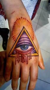 Pics For > Illuminati Hand Triangle Tattoo