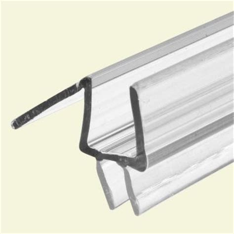 glass shower door seal prime line 3 8 in x 36 in clear vinyl glass door bottom