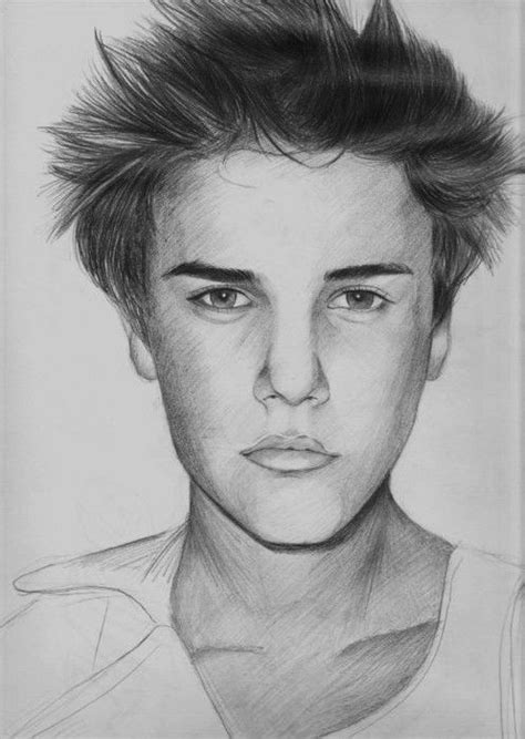 amazing justin bieber drawings images  pinterest