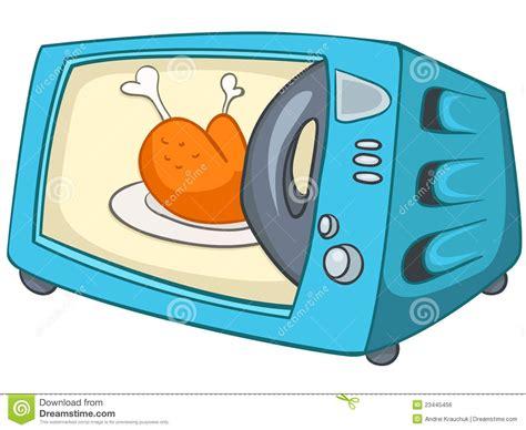 dessin animé de cuisine micro onde à la maison de cuisine de dessin animé image