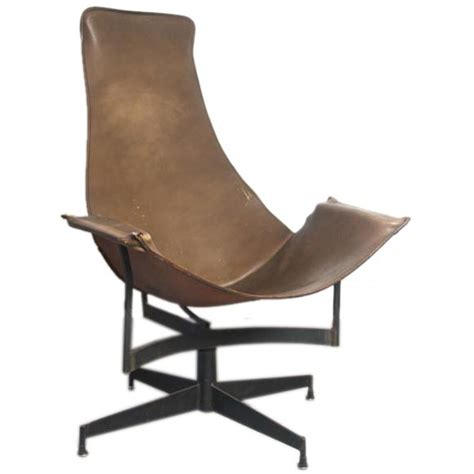 luther swivel chair luther conover leather sling swivel lounge chair at 1stdibs 3899