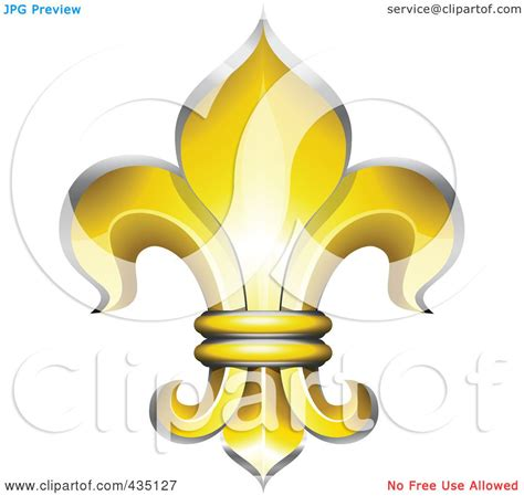 royalty free rf clipart illustration of a golden fleur de lys symbol by oligo 435127