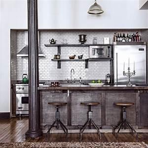 cuisine style industrielle 54 images cuisine With plan de maison facade 18 cuisine industrielle lelegance brute en 82 photos