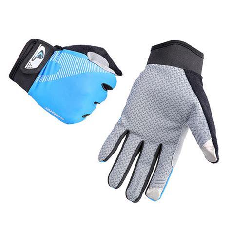 sonny sarung tangan sepeda anti slip sport gloves size l blue black jakartanotebook