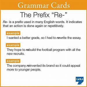 See If You Can Come Up With More Sentences Containing Words With The Prefix  U201cre U201d And Then  Share