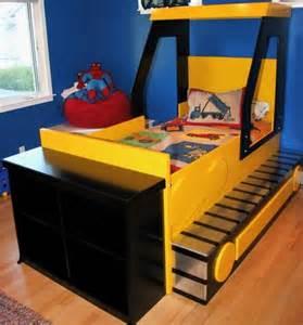 bulldozer bed boys beds pinterest