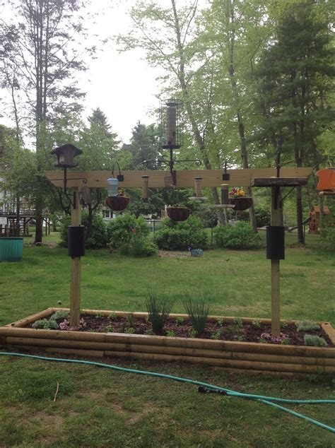 bird feeder station garden things pinterest