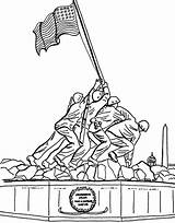 Coloring Memorial Vietnam Remembrance Sheets Monument Printable Veterans Drawing Valley Adult Iwo Jima Colouring Getdrawings Template sketch template