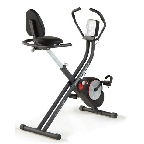 proform x bike duo exercise bike foldable lcd with ifit