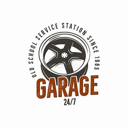 Garage Station Service Vector Custom Repair Graphics