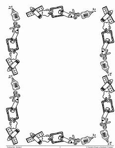 Free Coloring Pages Of Detailed Kangaroo School Border Clipart 59 Cliparts