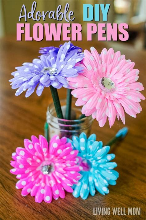 flower pens easy diy gifts flower pens diy