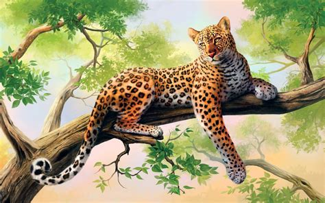 leopard art wallpapers hd wallpapers id