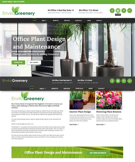 web design nyc envirogreenery responsive media nyc web design