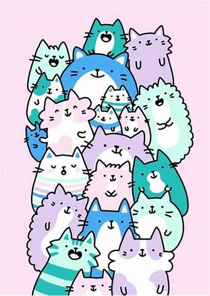 Doodles Cat Animal Kawaii Doodle Cats Kirakiradoodles