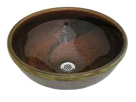 copper river hand blown glass vessel sink sinks gallery