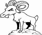 Goat Cabras Ziege Gruff Mwb sketch template