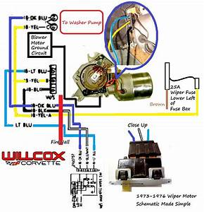 1957 Chevy Wiper Motor Wiring Diagram Schematic