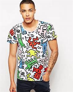 T Shirt Keith Haring : solid solid t shirt with all over keith haring print at asos ~ Melissatoandfro.com Idées de Décoration