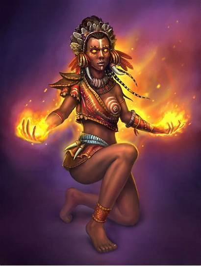African Shaman Artstation Artwork