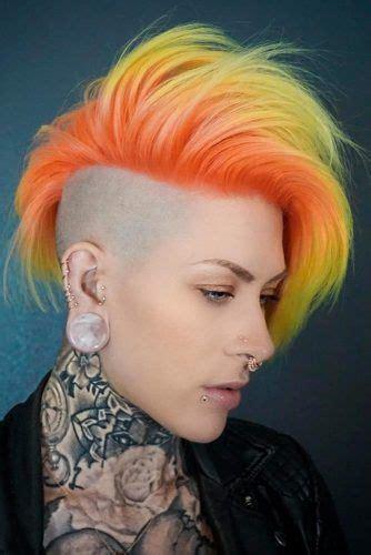 bunte haare kurz coolste faux hawk inspiriert frisuren f 252 r frauen 2018 coole frisuren