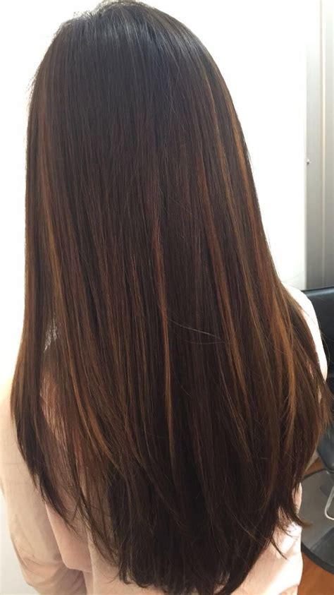 brazilian balayage  straight hair balyaage braun