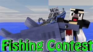 Minecraft | FISHING CONTEST CHALLENGE - Fishing Mod! (JAWS ...