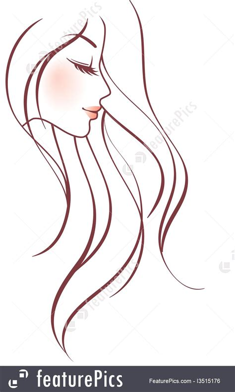 fine art woman sketch stock illustration
