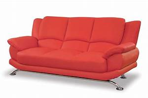 Red couches swamijane style for Red leather sofa