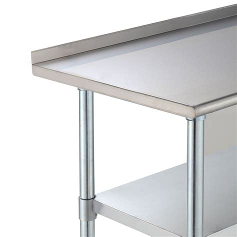 stainless steel work table with two shelves stainless steel work prep table kitchen restaurant storage