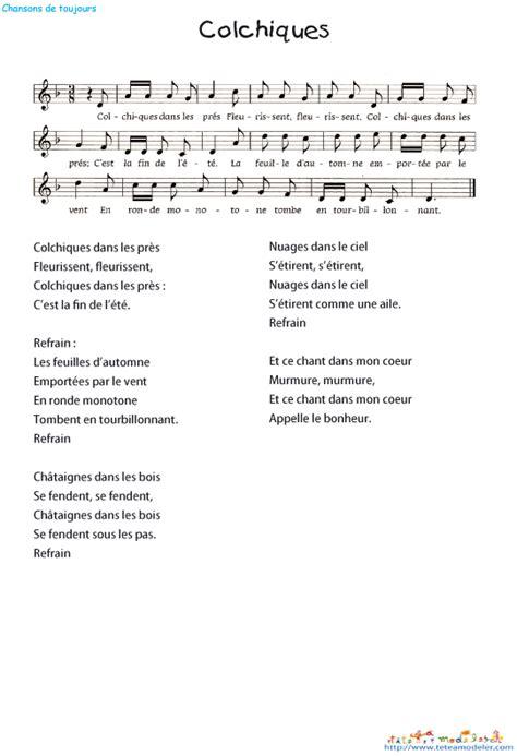 colchiques dans les pr 232 s paroles de chanson t 234 te 224 modeler
