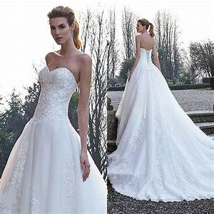 cheap white wedding dresses with applique lace beads With white wedding dresses cheap