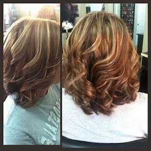 Medium Length Brown Hair With Blonde Highlights Hair