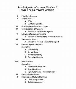 Free 11  Sample Board Meeting Agenda Templates In Pdf