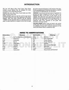 1977 Chevrolet Heavy Duty Truck Labor Time Guide Manual