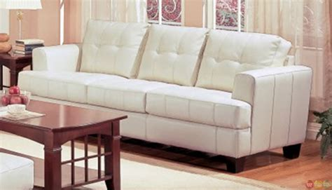 Samuel Cream Bonded Leather Living Room Couch And Loveseat Kitchen Makeovers Adelaide Traditional Style Cabinets Rustic Shelves Paint Colors Design Ideas Cream Kitchens Outdoor Contemporary Flooring